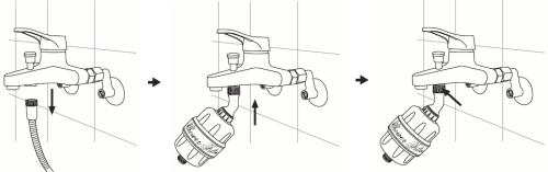 Installation filtre douche